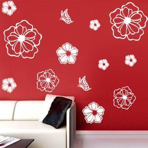 花 マルチ フラワーシール ウォールステッカー 壁デコレーション 北欧風 インテリア DIY|peachy