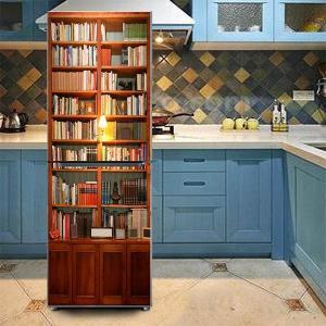 冷蔵庫ステッカー トリックアート 本棚 アンティーク 家具 だまし絵シール インテリア DIY リメイク peachy