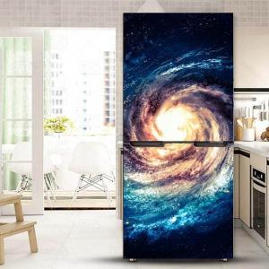 冷蔵庫ステッカー トリックアート 宇宙 ユニバース 銀河系 ビッグバン だまし絵シール インテリア DIY リメイク peachy