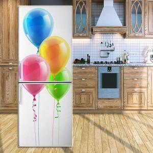 冷蔵庫ステッカー トリックアート 風船 バルーン 鮮やか シンプル だまし絵シール インテリア DIY peachy