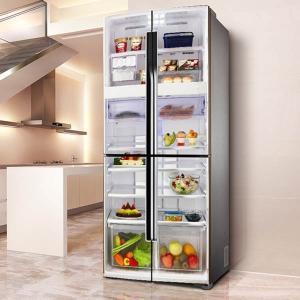冷蔵庫ステッカー トリックアート 冷蔵室 断面図 おもしろ だまし絵シール インテリア DIY リメイク peachy