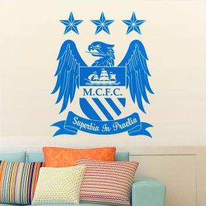 ウォールステッカー マンチェスター・シティFC サッカー クラブ ロゴ DIY 縁起 リビング 寝室|peachy