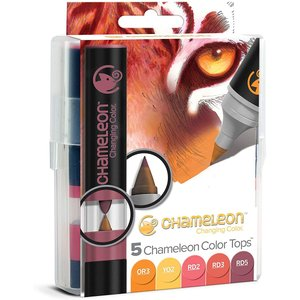 カメレオンペン カラートップ 色のブレンド 5本セット ウォームトーンの商品画像|ナビ