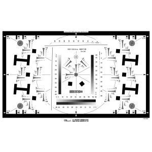 ISO12233準拠 8K解像力テストチャート(ビデオカメラ用)  反射型撮影用テストチャートは壁な...
