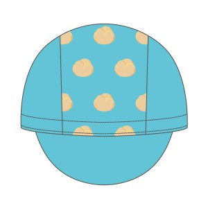 しゅ〜くり〜む サイクルキャップ ブルー|pearlizumi-original