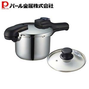 圧力鍋 3.5L 3.5リットル ガラス蓋付 IH対応 クイックエコ H-5040 セット買い パー...