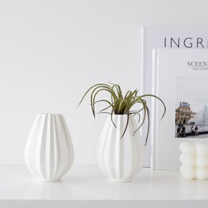 【倉庫出荷】フラワーベース 2個セット 白磁 花瓶 一輪挿し おしゃれ かわいい シンプル 花器 イ...