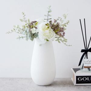 【倉庫出荷】フラワーベース 花瓶 白 ホワイト 花器 おしゃれ かわいい シンプル モダン