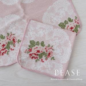 ふきん ディッシュクロス 台拭き かわいい 北欧 薔薇雑貨 マリーレースディッシュクロスふきん 明日つく pease