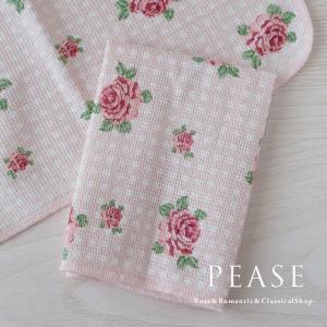 ふきん ディッシュクロス 台拭き かわいい 北欧 薔薇雑貨 ドットロゼディッシュクロスふきん 明日つく pease