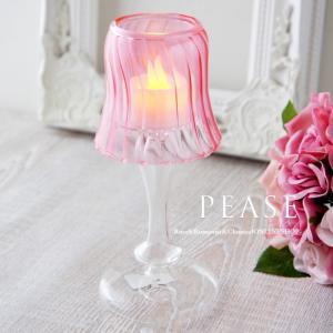 薔薇雑貨 シェード風 キャンドルホルダー ピンク M キャンドルスタンド かわいい おしゃれ インテリア バラ雑貨     姫系雑貨 プレゼント ラッピング pease