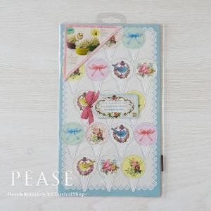 薔薇雑貨 Talking Tables ケーキトップ リボンレース 丸型 17個   姫系雑貨 明日つく|pease