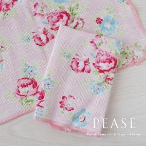 ふきん ディッシュクロス 台拭き かわいい 北欧 薔薇雑貨 ミディローズディッシュクロスふきん 明日つく pease