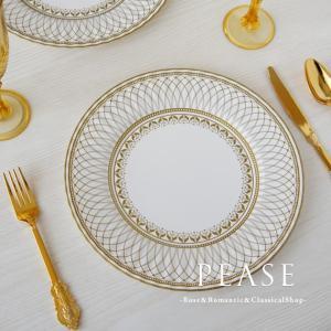 イギリスTalking Tablesブランドのおしゃれな紙皿です シンプルエレガントなゴールドのデザ...