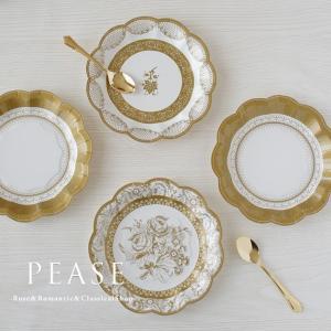 薔薇雑貨 Talking Tables 紙皿 エレガントゴールド 紙皿12枚セット かわいい おしゃれ バラ雑貨     姫系雑貨 明日つく|pease