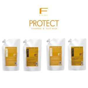◆美容室専売品◆ フィヨーレ Fプロテクト シャンプー 1000ml詰替え用×2コ/ヘアマスク 1000g詰替え用×2コ 計4コセット|pechka