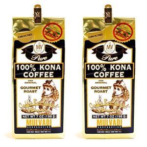 MULVADI 100% KONA COFFEE マルバディ コナ コーヒー ハワイ (粉) 198g 2個セット|pechka