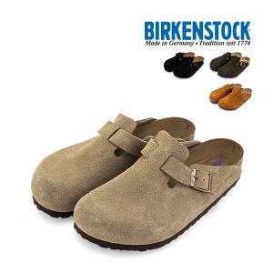 ビルケンシュトック BirkenStock boston ボストン サンダル メンズ 男性用 天然皮革 レザー ブラウン スエード レザー regular 普通幅タイプ