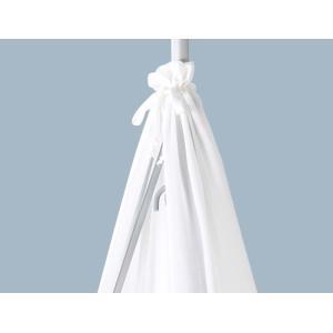リエンダー ハイチェア キャノピー ゆりかご用 ホワイト 赤ちゃん 寝具 104361 Leander Canopy for cradle White|peeweebaby-gulliver|03