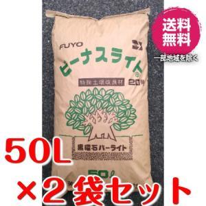 ビーナスライト20号(黒曜石パーライト)50L×2袋セット 粒の大きさ・7〜20mm
