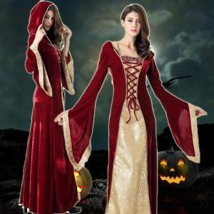 ハロウィン 衣装 女王 貴婦人 ロングドレス コスプレ 中世 ゴシック レディース...