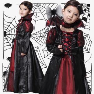 送料無料 即納 ハロウィン 衣装 子供 女の子 仮装 子供服 悪魔 小悪魔 ドレス コスプレ コスチューム 魔女 魔法使い 2点セット 人気 悪の女王様