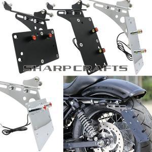 バイク 外装パーツ オートバイ テールライト サイドマウント ナンバープレート ブラケット ハーレー...