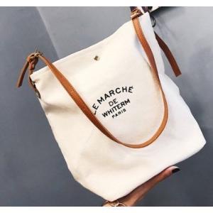 韓国カジュアル レディース 人気商品 白 ホワイト トートバッグ ショルダー キュート 白色 韓国 バッグ No.692|pekotarou