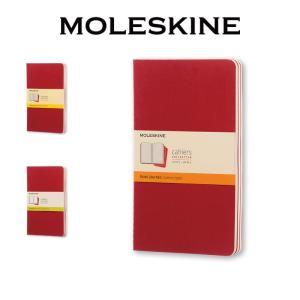 【正規販売】MOLESKINE モレスキン カイエジャーナル 3冊セット 横罫 方眼 無地 レッド ...