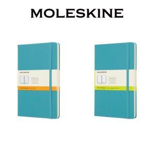 【正規販売】MOLESKINE モレスキン カラーノートハードカバー 横罫 無地 リーフブルー L