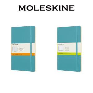 【正規販売】MOLESKINE モレスキン カラーノートソフトカバー 横罫 無地 リーフブルーL
