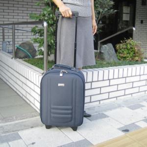 旅行・出張用 キャリー バッグ2輪 濃紺(ネイビー)色(中サイズ-No.531)|pendant