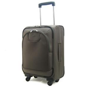 軽量キャリーバッグ(中サイズ)4輪キャスター(ブラウンカーキ) 旅行・出張用 |pendant