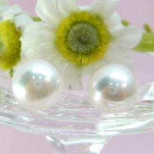 お買い得品! あこや貝 本真珠 パールピアス8.0〜8.5mm珠 K14WG pendant
