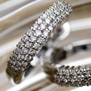 【ゴージャス/特価セール】天然 ダイヤモンド パヴェセッティング ピアス(K18WG/0.15ct X2)中折れ式 pendant