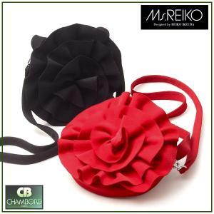 ミズレイコ Ms.REIKO バッグ 2WAY フラワー デザイン(ブラック or レッド)(受注生産/納期約40日/代引き不可)|pendant