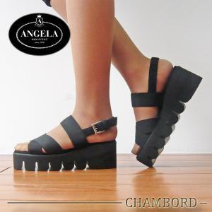 アンジェラ 靴 バックストラップ サンダル ANGELA-004 ブラック アンジェラ ANGELA セール アウトレット|pendant