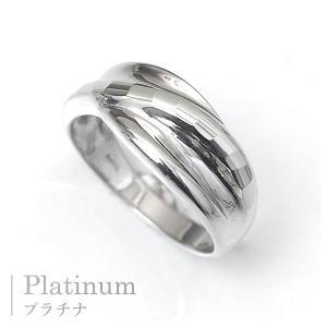 プラチナ 指輪 プラチナリング Pt900 多面 カットリング ウエーブ|pendant