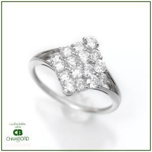 ダイヤモンド リング プラチナ 指輪 Pt900 D:1.0ct 計1カラット スクエア デザイン|pendant