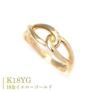 18金 リング K18 指輪 インフィニティ モチーフ デザイン リング|pendant