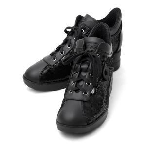 ルコライン アウトレット RUCO LINE agile アージレ 靴 スパンコール スニーカー DIPSY MATISSE ブラック ファスナー付 agile-163BK|pendant