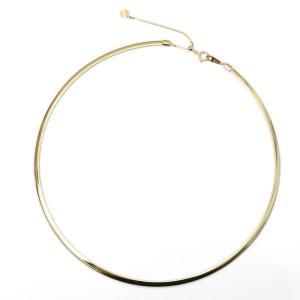 オメガネックレス k18 YG/WG イエローゴールドメイン 約3.0mm幅 約45cm/金具を含む本体40cm(オメガ38cm+金具2cm)+調節チェーン5cm 金具と調節チェーンK18YG|pendant