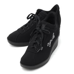 ルコライン 靴 アージレ agile by RUCO LINE WRITTEN LYCRA アージレロゴ ラインストーン付き 生地/黒 ブラック サイドファスナー付 agile-177BK|pendant