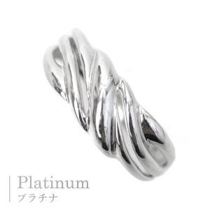 プラチナ 指輪 プラチナ リング Pt900 ウエーブ 波 スクロール モチーフ|pendant