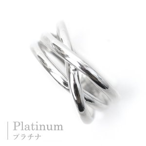 プラチナ 指輪 プラチナリング Pt900 3連リング調 3本ウエーブ 3ライン|pendant