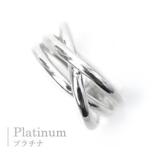 プラチナ リング 指輪 19号 20号サイズ プラチナリング Pt900 3連リング調 3本ウエーブ 3ライン pendant