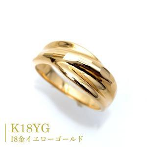 18金 リング k18 指輪 ゴールド キラキラ 多面 カットリング K18 Ring|pendant