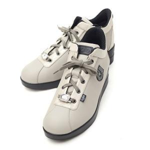 ルコライン スニーカー アージレ agile RUCO LINE 靴 MEDUSA NATURE ベージュ  ビジュー付き 本革 ヘビ型押し切替 サイドファスナー付き agile-189BE|pendant