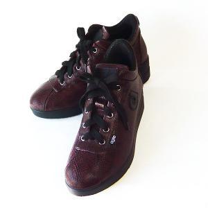 ルコライン スニーカー アージレ agile RUCO LINE 靴  MANTA マンタ ヘビ型押し サイド ファスナー付き 新色 ダークワインレッド agile-114DWR27|pendant