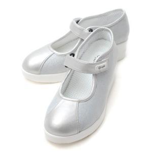 ルコライン 靴 アージレ バイ ルコライン ワンストラップ シューズ agile-234SI LISA  ラメ生地 シルバー バレエシューズ agile by RUCO LINE|pendant